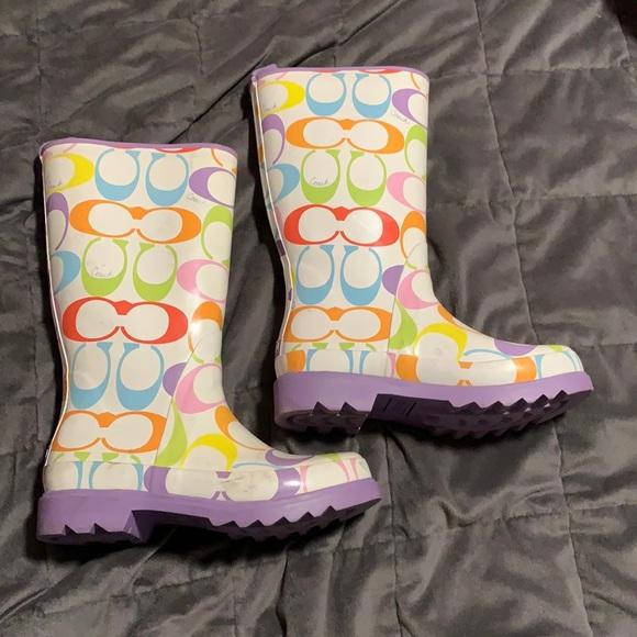 Paisley Coach Boots sz 6B Super Cute